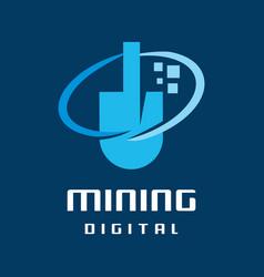 digital mining logo vector image