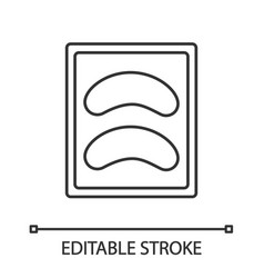 disposable eyeshadow pads linear icon vector image
