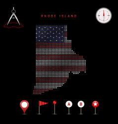 Dotted map rhode island painted vector