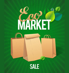 Eco Market Sale vector image