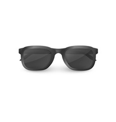 elegant black sunglasses with clear glasses vector image