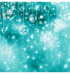 Elegant blue christmas background eps 8 vector