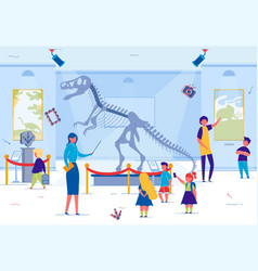 elementary school kids in local historical museum vector image