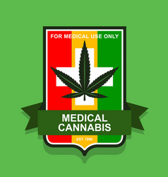 Emblem medical marijuana rastaman vector