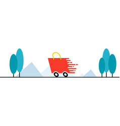 fast shipping vector image