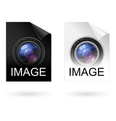 file type black and white icons on white vector image