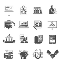 Finance Icon Black Set vector image