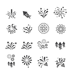 Firework icon vector