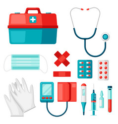 first aid kit equipment vector image