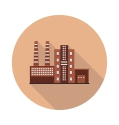 flat icon factory vector image