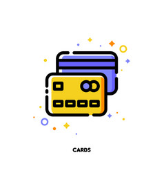 Flat icon of credit cards for money concept vector