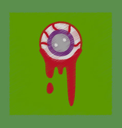 Flat shading style icon halloween zombie eyes vector