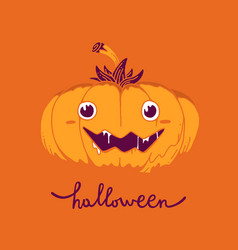 flat style design for halloween greeting card vector image