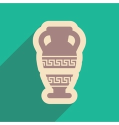 Flat web icon with long shadow amphora vector