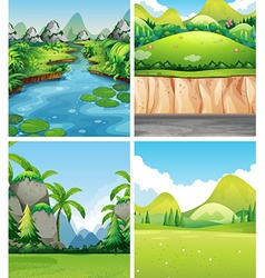 Four different nature scenes vector image
