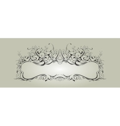 frame with floral elements for registration 2 vector image