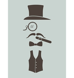 Gentlemens vintage stuff vector