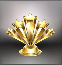 Golden stars award vector
