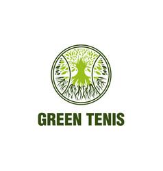 green tennis logo designs vector image