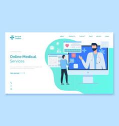 healthcare website medical service doctor vector image