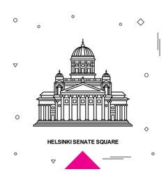 Helsinki senate square vector