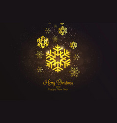 holiday new year card 3 vector image
