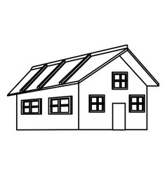 house icon cartoon black and white vector image