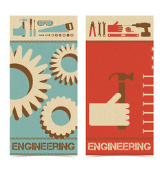Industrial abstract banners set vector