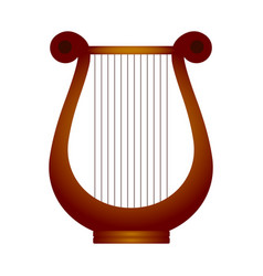 isolated lyre musical instrument vector image