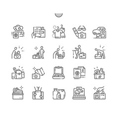 Lets hit road icons vector