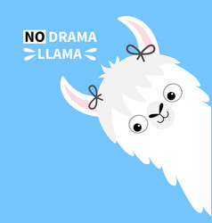 Llama alpaca animal face no drama girl with bow vector