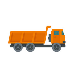 Loaded farm truck icon flat style vector