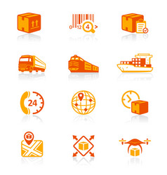 logistics icons - juicyy series vector image
