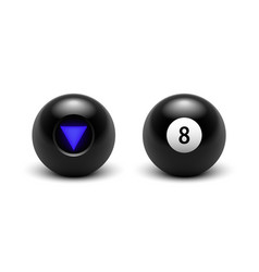 magic 8 ball set eight vector image