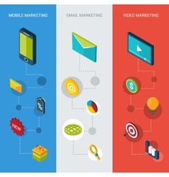 Marketing Isometric Banners vector