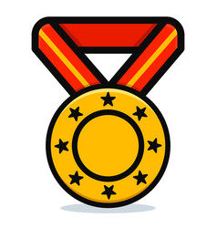 Medal on white background vector