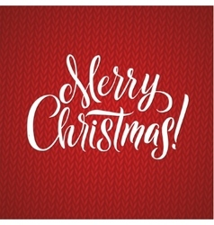 Merry Christmas Calligraphy Lettering Happy vector
