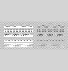 Metal binder realistic silver or black spiral vector