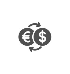 money exchange simple icon banking currency vector image