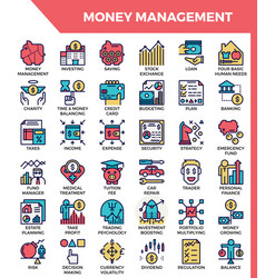 money management icons vector image