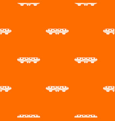 Monorail train pattern seamless vector