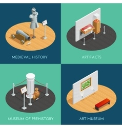Museum Isometric 2x2 Compositions vector