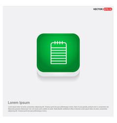note icon green web button vector image