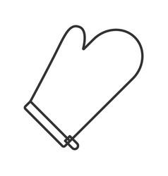 Oven mitt linear icon vector