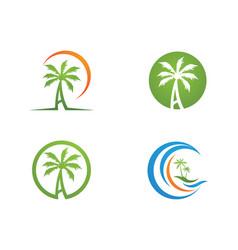 palm tree logo template vector image