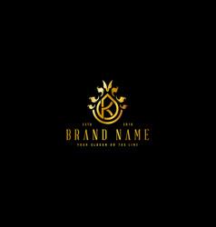Premium luxury logo letter k vector