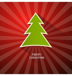 Red Green Abstract Merry Christmas Background vector image