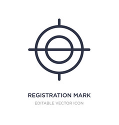 Registration mark icon on white background simple vector