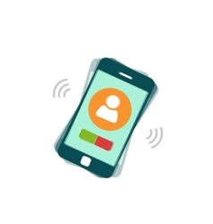 Ringing mobile phone calling or vibrating vector