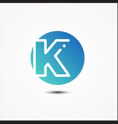 round symbol letter k design minimalist vector image